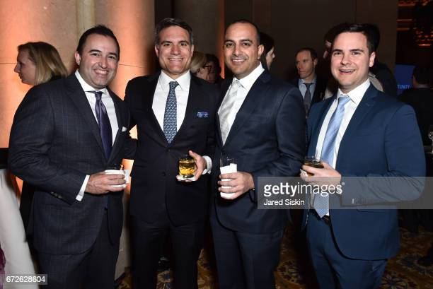 Adam Pearson Lee Olive Karan Chahal and Michael Dolio attend The Opportunity Network's 10th Annual Night of Opportunity Gala at Cipriani Wall Street...