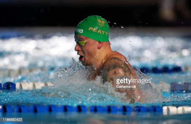 Adam Peaty of London Roar competes in the Men's 50m Breastroke during Day One of the International Swimming League at Aquatics Centre on November 23...