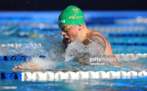 Adam Peaty of London Roar competes in the Men's 50m Breaststroke during Day One of the International Swimming League at Aquatics Centre on November...