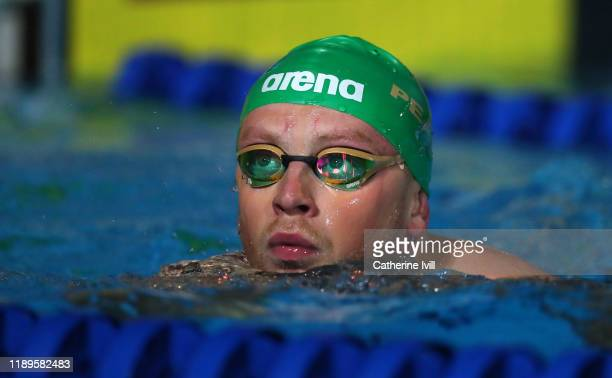 Adam Peaty of London Roar during Day One of the International Swimming League at Aquatics Centre on November 23 2019 in London England
