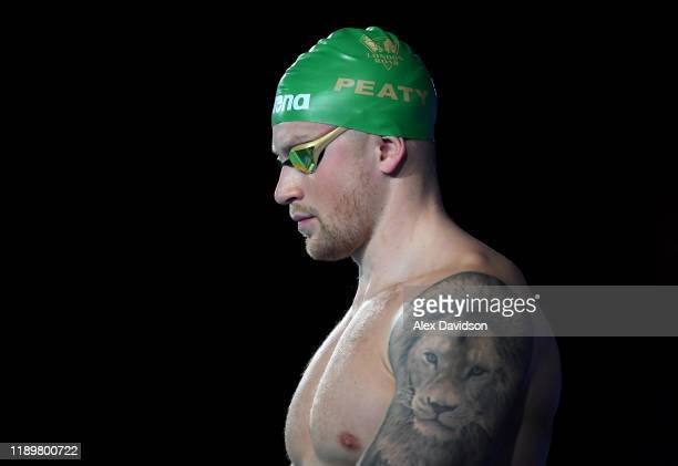 Adam Peaty of London Roar looks on during Day Two of the International Swimming League 2019 at Aquatics Centre on November 24 2019 in London England