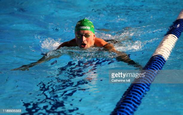 Adam Peaty of London Roar warms up during Day Two of the International Swimming League at Aquatics Centre on November 24 2019 in London England