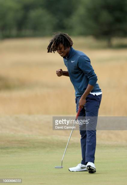 Adam Pedersen of Denmark in action during the final round of the 2018 US Open at Shinnecock Hills Golf Club on June 17 2018 in Southampton New York