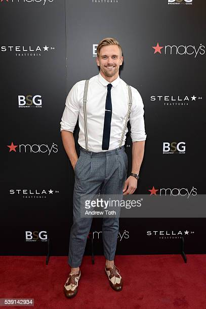 Adam Perry attends Macy's and Broadway Style Guide welcome today's hottest broadway stars for an evening of men's style hosted by NY1's Frank DiLella...