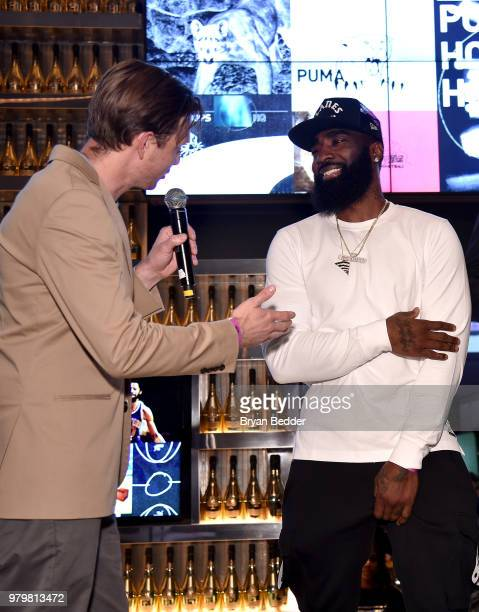 Adam Petrick and Sham God attend the PUMA Basketball launch party at 40 40  Club 217514608