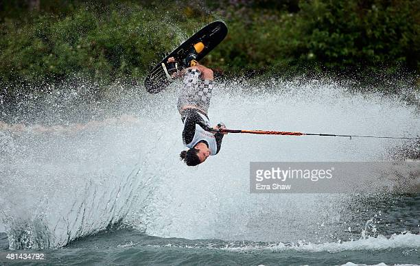 Adam Pickos of the United States competes in the men's tricks waterski preliminary round on Day 10 of the Toronto 2015 Pan Am Games on July 20, 2015...