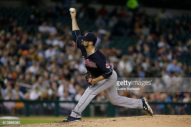 Adam Plutko of the Cleveland Indians at Comerica Park on September 27 2016 in Detroit Michigan