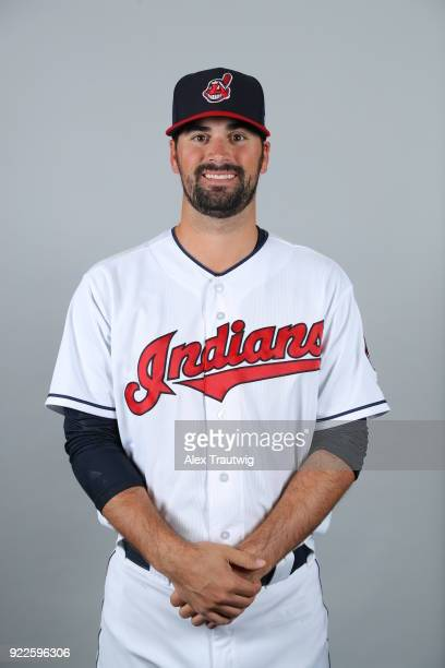 Adam Plutko of the Cleveland Indians poses during Photo Day on Wednesday February 21 2018 at Goodyear Ballpark in Goodyear Arizona