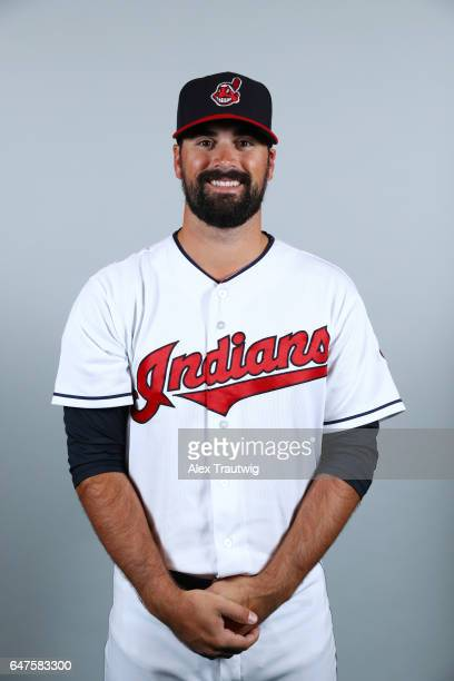 Adam Plutko of the Cleveland Indians poses during Photo Day on Friday February 24 2017 at Goodyear Ballpark in Goodyear Arizona