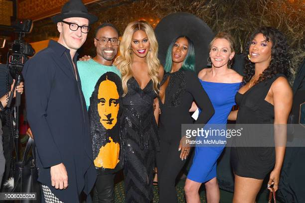 Adam Porter Smith Billy Porter Smith Laverne Cox Mila Jam and Guests attend the 'Head Over Heels' Broadway Opening Night Party at Guastavino's on...