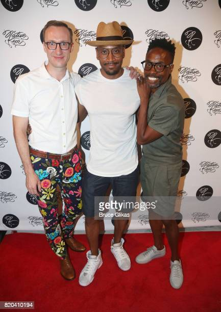 Adam Porter Smith Bryan Terrell Clark Billy Porter pose at the Native Ken Eyewear NYC Launch Party at Native Ken on July 20 2017 in New York City