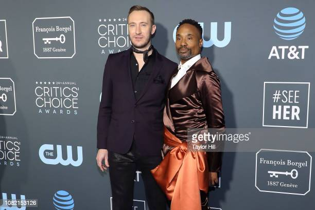Adam PorterSmith and Billy Porter attend The 24th Annual Critics' Choice Awards at Barker Hangar on January 13 2019 in Santa Monica California