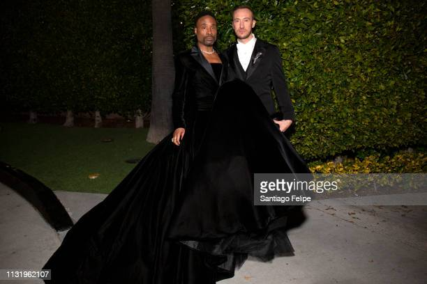 Adam PorterSmith and Billy Porter prepare for the afterparties after the 91st Academy Awards at Lowes Hollywood Hotel on February 24 2019 in...