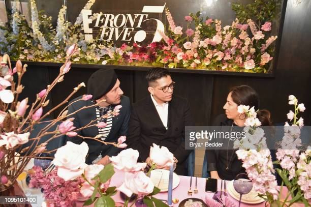 Adam PorterSmith and Sam Ratelle attend a lunch for the Front Five Presented by E at NYFW The Shows during New York Fashion Week at Spring Studios on...