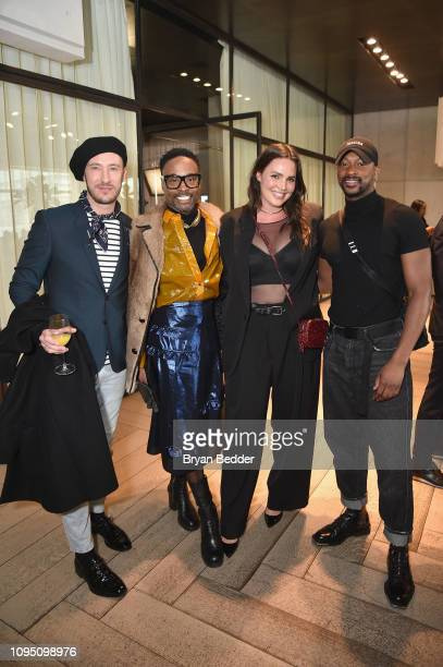 NEW Adam PorterSmith Billy Porter Candice Huffine and LaQuan Smith attend a lunch for the Front Five Presented by E at NYFW The Shows during New York...