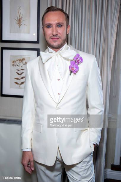 Adam PorterSmith prepares for the 73rd Annual Tony Awards at The Lowell Hotel on June 09 2019 in New York City