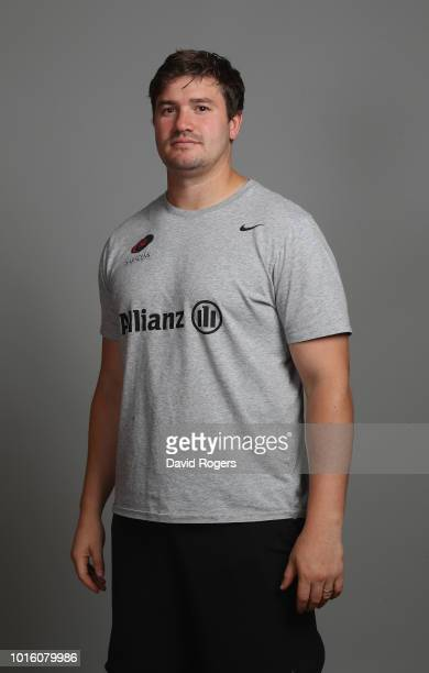 Adam Powell the Saracens senior academy coach poses for a portrait during the Saracens squad photo call for the 201819 Gallagher Premiership Rugby...