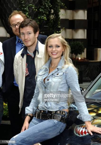 Adam Proud Nick Moran and Anouska De Georgiou during Cannonball 8000 Photocall at The Savoy in London Great Britain