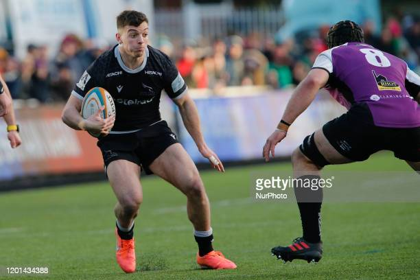 Adam Radwan of Newcastle Falcons in action during the Greene King IPA Championship match between Newcastle Falcons and Cornish Pirates at Kingston...