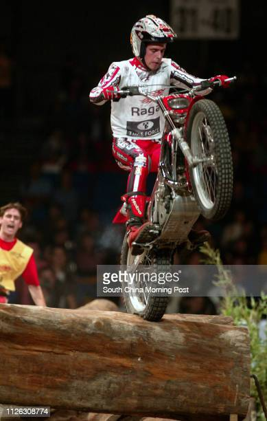 Adam Raga from Spain in action at the FIM Indoor Trial World Championship at HKCEC 05 DECEMBER 2003