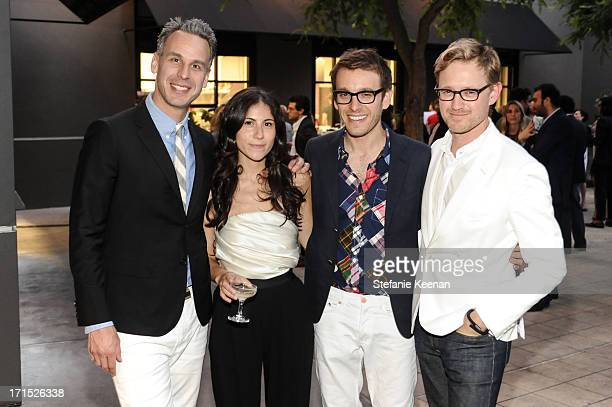 Adam Rapoport Nicole Cari Scott Sternberg and Kevin West attend Band of Outsiders and Bon Appetit Host A Dinner In Celebration Of The Publication Of...