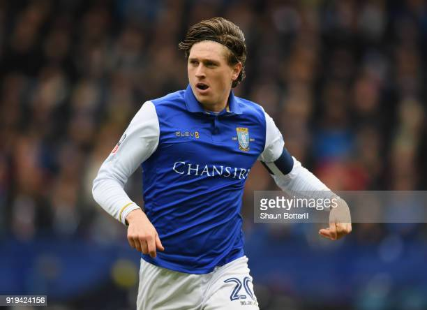 Adam Reach of Sheffield Wednesday during Emirates FA Cup Fifth Round match between Sheffield Wednesday and Swansea City at Hillsborough on February...