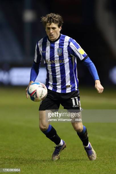 Adam Reach of Sheffield Wednesday during the Sky Bet Championship match between Sheffield Wednesday and Derby County at Hillsborough Stadium on...