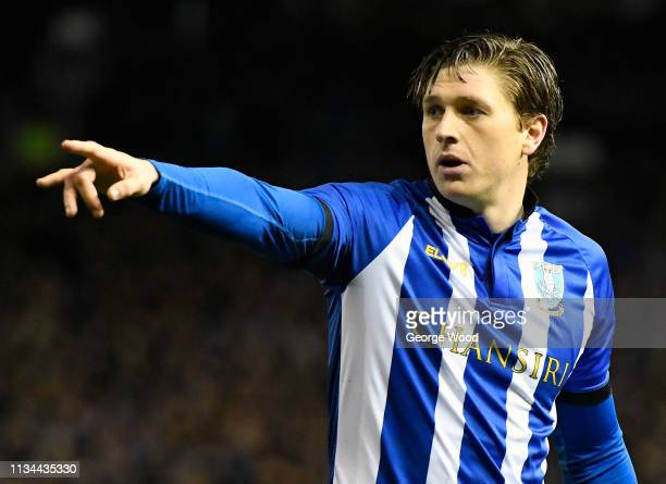 Adam Reach of Sheffield Wednesday looks on during the Sky Bet Championship match between Sheffield Wednesday and Sheffield United at Hillsborough...