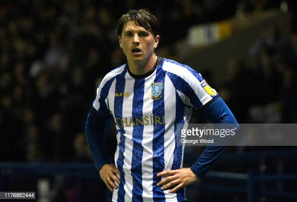 Adam Reach of Sheffield Wednesday reacts during the Carabao Cup Third Round match between Sheffield Wednesday and Everton FC at Hillsborough on...