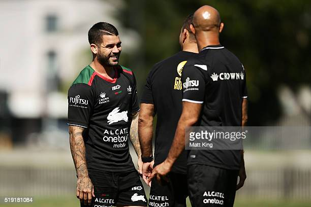 Adam Reynolds looks on during a South Sydney Rabbitohs NRL training session at Redfern Oval on April 5 2016 in Sydney Australia
