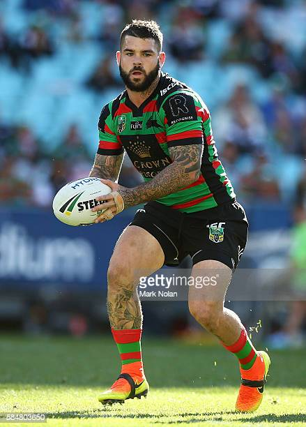Adam Reynolds of the Rabbitohs in action during the round 21 NRL match between the South Sydney Rabbitohs and the Canberra Raiders at ANZ Stadium on...