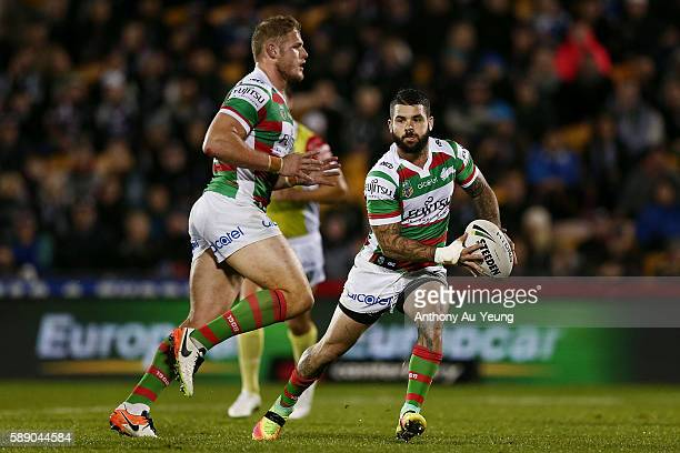 Adam Reynolds of the Rabbitohs in action during the round 23 NRL match between the New Zealand Warriors and the South Sydney Rabbitohs at Mount Smart...