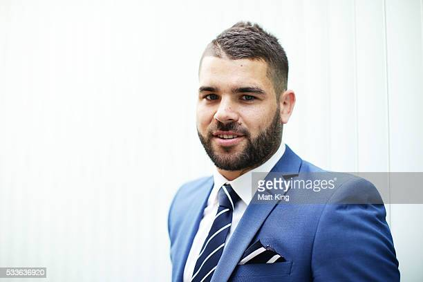 Adam Reynolds poses during the NSW Blues State of Origin team announcement at The Star on May 23 2016 in Sydney Australia
