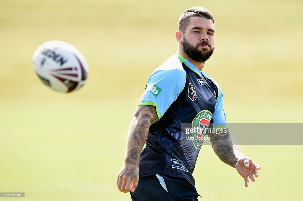 Adam Reynolds receives a pass during a New South Wales Blues State of Origin training session on June 15, 2016 in Coffs Harbour, Australia.