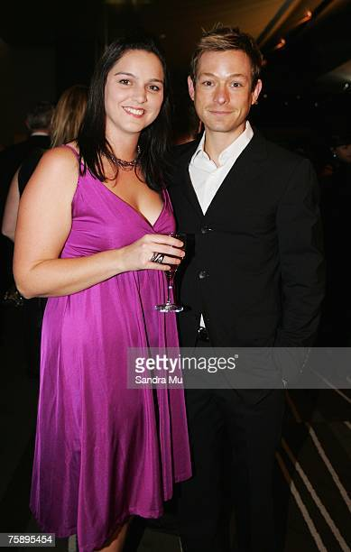 Adam Rickitt ex Coronation Street actor now on Shortland Street with Rebecca Milne arrive at the Air New Zealand Screen Awards at Sky City Theatre on...