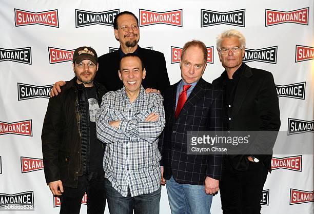 Adam Rifkin Penn Gilbert Gottfried Teller and Harry Hamlin attends the Slamdance Film Festival World Premiere Of 'Director's Cut' Photo Call at...