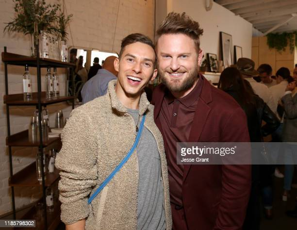 Adam Rippon and Bobby Berk attend the Bobby Berk's A.R.T. Furniture Launch Event on November 05, 2019 in Los Angeles, California.