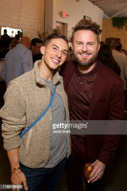 Adam Rippon and Bobby Berk attend the Bobby Berk's ART Furniture Launch Event on November 05 2019 in Los Angeles California