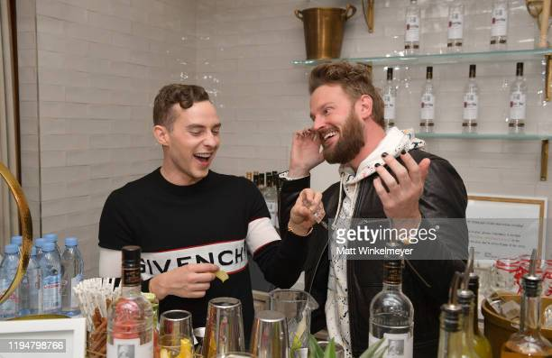 Adam Rippon and Bobby Berk celebrate Adam Rippon's 'Break The Ice' wrap party hosted by Ketel One Family Made Vodka and Portal A, at Hills Penthouse...