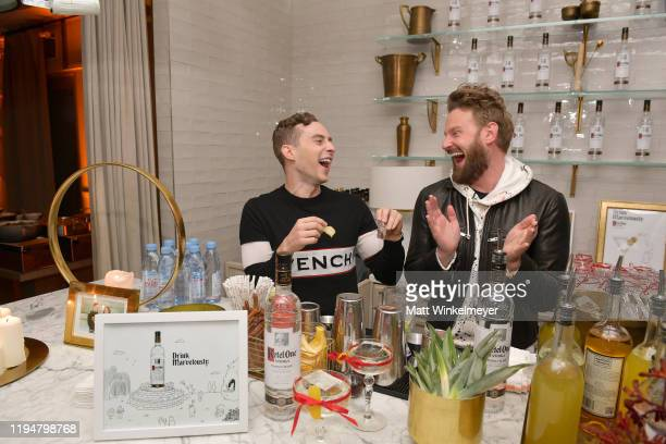 Adam Rippon and Bobby Berk celebrate Adam Rippon's 'Break The Ice' wrap party hosted by Ketel One Family Made Vodka and Portal A at Hills Penthouse...