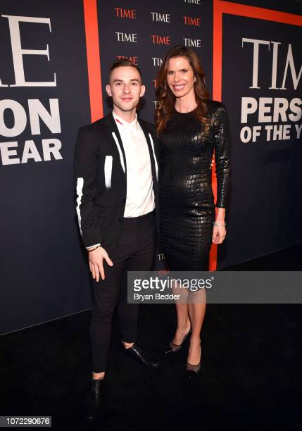Adam Rippon and Lynne Benioff attend the TIME Person Of The Year Celebration at Capitale on December 12 2018 in New York City