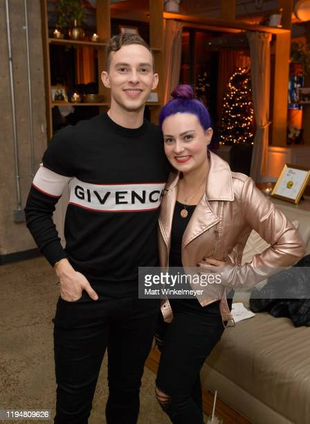 Adam Rippon and Molly Burke celebrate Adam Rippon's 'Break The Ice' wrap party hosted by Ketel One Family Made Vodka and Portal A, at Hills Penthouse...