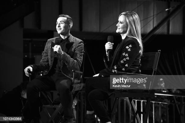 Adam Rippon and Samantha Bee perform during Full Frontal With Samantha Bee Presents Christmas On ICE at PlayStation Theater on December 17 2018 in...