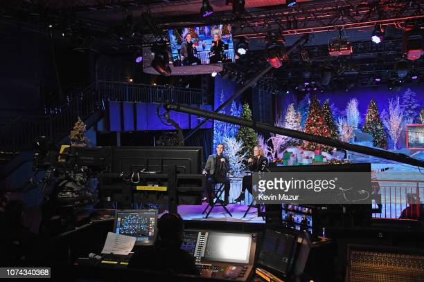 Adam Rippon and Samantha Bee perform during Full Frontal With Samantha Bee Presents Christmas On I.C.E. At PlayStation Theater on December 17, 2018...