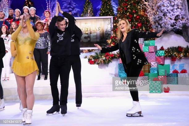 Adam Rippon and Samantha Bee perform onstage during Full Frontal With Samantha Bee Presents Christmas On ICE at PlayStation Theater on December 17...