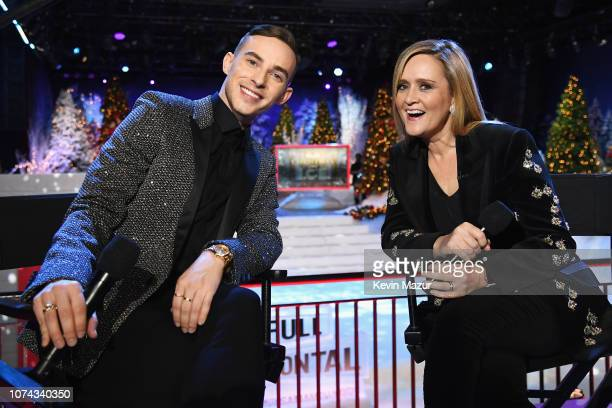 Adam Rippon and Samantha Bee pose during Full Frontal With Samantha Bee Presents Christmas On ICE at PlayStation Theater on December 17 2018 in New...