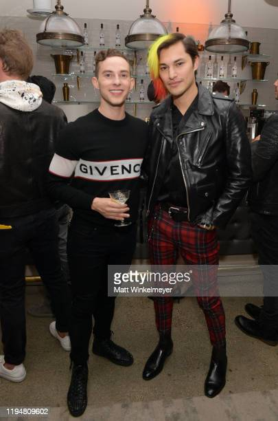 Adam Rippon and Zach Villa celebrate Adam Rippon's 'Break The Ice' wrap party hosted by Ketel One Family Made Vodka and Portal A, at Hills Penthouse...
