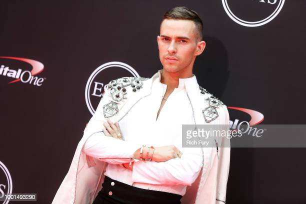Adam Rippon attends the 2018 ESPYS at Microsoft Theater on July 18 2018 in Los Angeles California