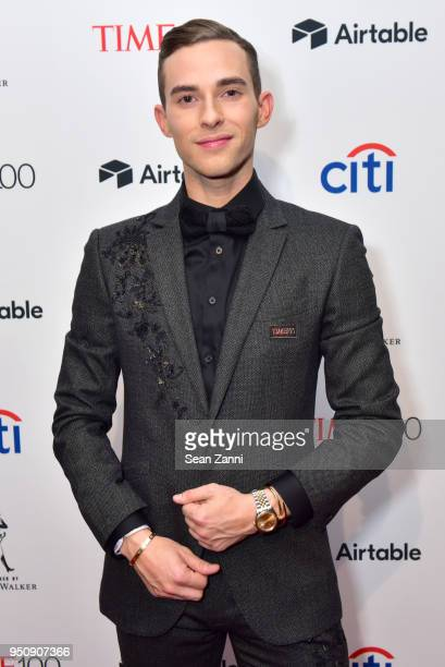 Adam Rippon attends the 2018 TIME 100 Gala at Jazz at Lincoln Center on April 24 2018 in New York City