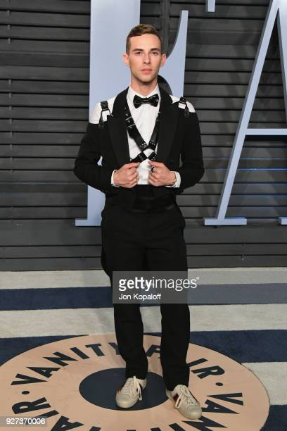 Adam Rippon attends the 2018 Vanity Fair Oscar Party hosted by Radhika Jones at Wallis Annenberg Center for the Performing Arts on March 4 2018 in...